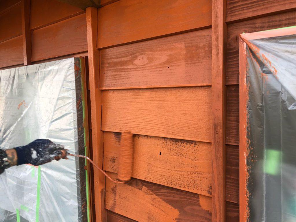 木外壁上塗り