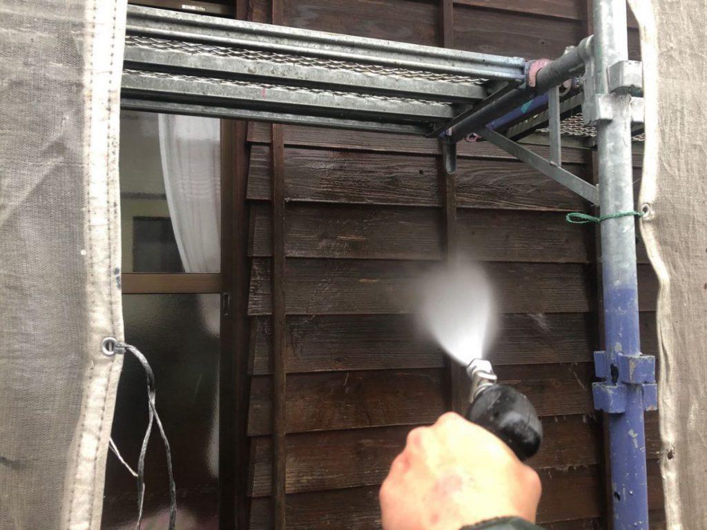 木外壁 高圧洗浄