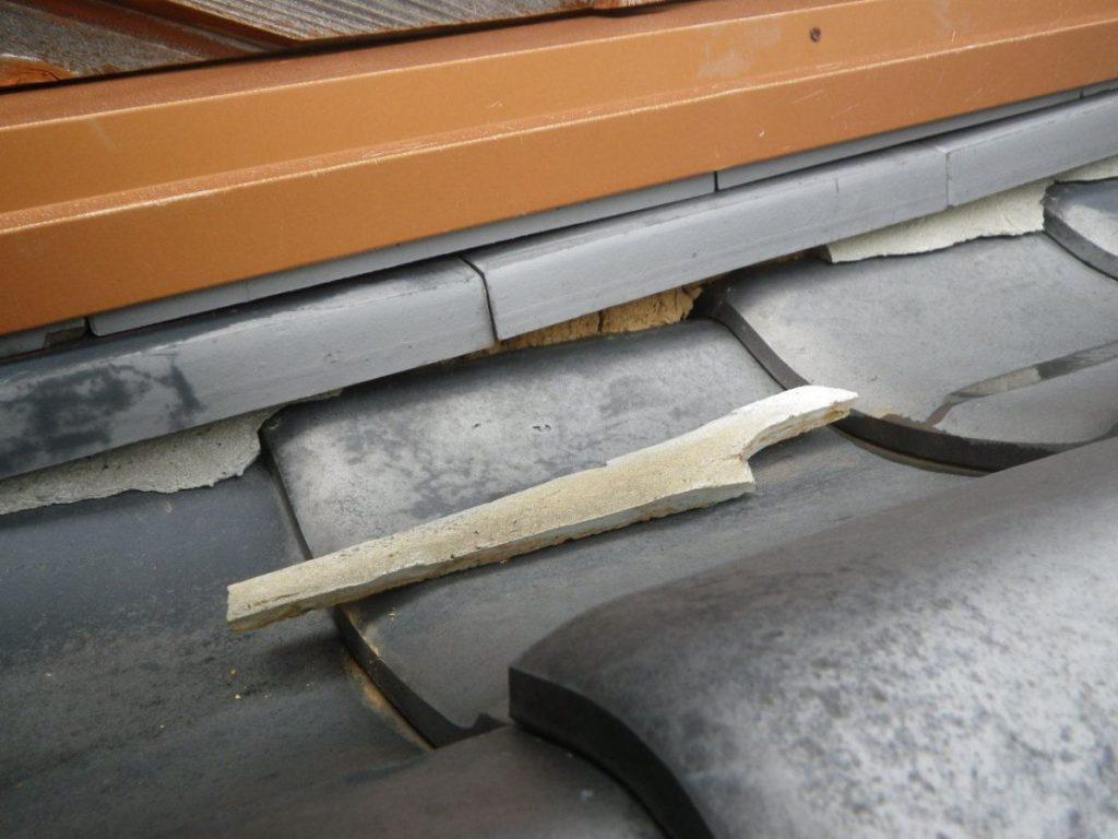 屋根漆喰の傷み