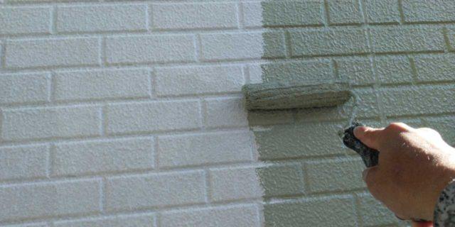 【宮崎県宮崎市】恒久にある粘土瓦の屋根の住宅で足場設置・養生・高圧洗浄を行います外壁中塗り_1_確定