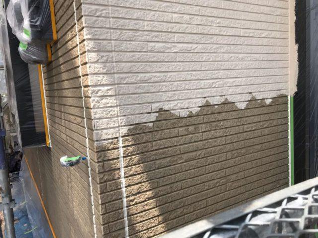 【宮崎県宮崎市】日ノ出にあるFRP防水ベランダの住宅で足場設置・養生・高圧洗浄を行います外壁中塗り_1_確定