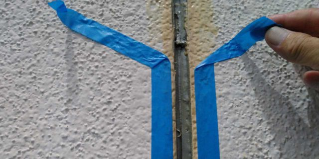 【鹿児島県曽於郡】大崎町にあるスレート屋根の住宅で足場設置・養生・高圧洗浄を行いますマスキング・プライマー処理_1_確定