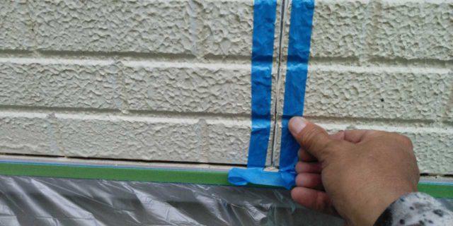 【宮崎県宮崎市】恒久にある粘土瓦の屋根の住宅で足場設置・養生・高圧洗浄を行いますマスキング・プライマー処理_1_確定