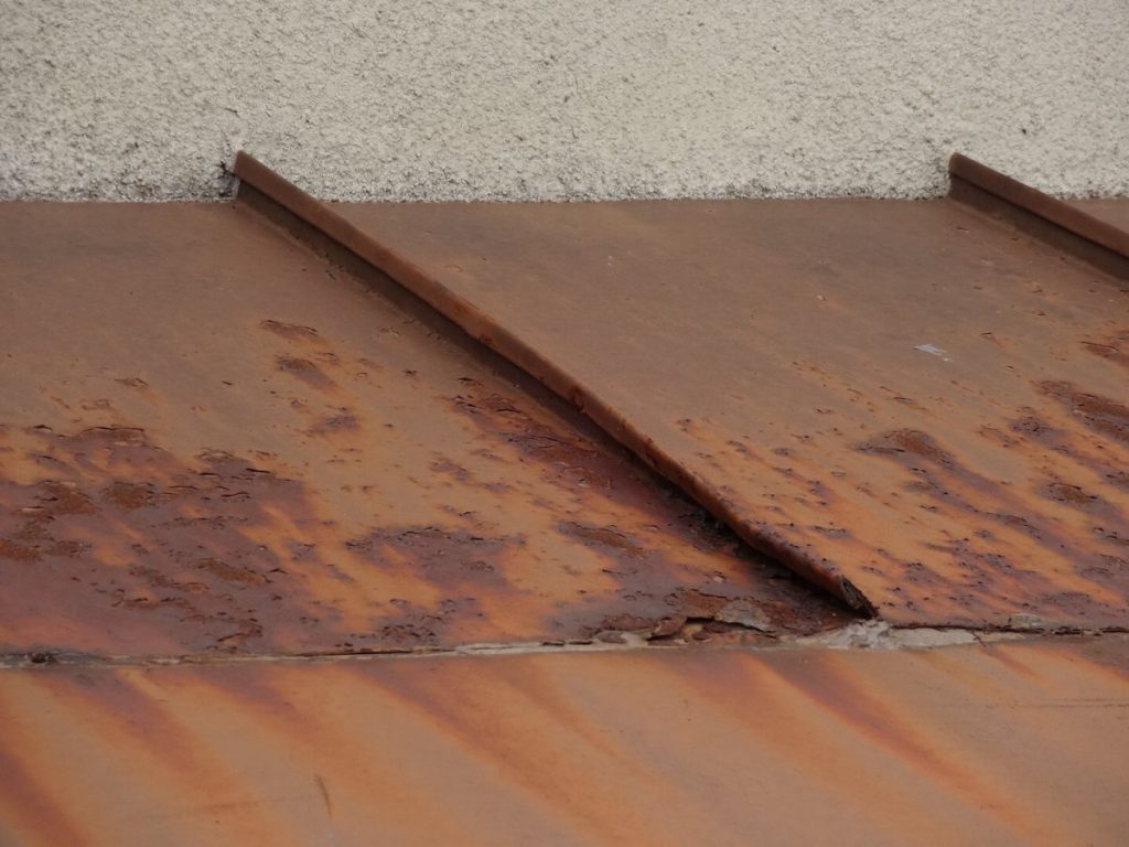 板金屋根錆の発生