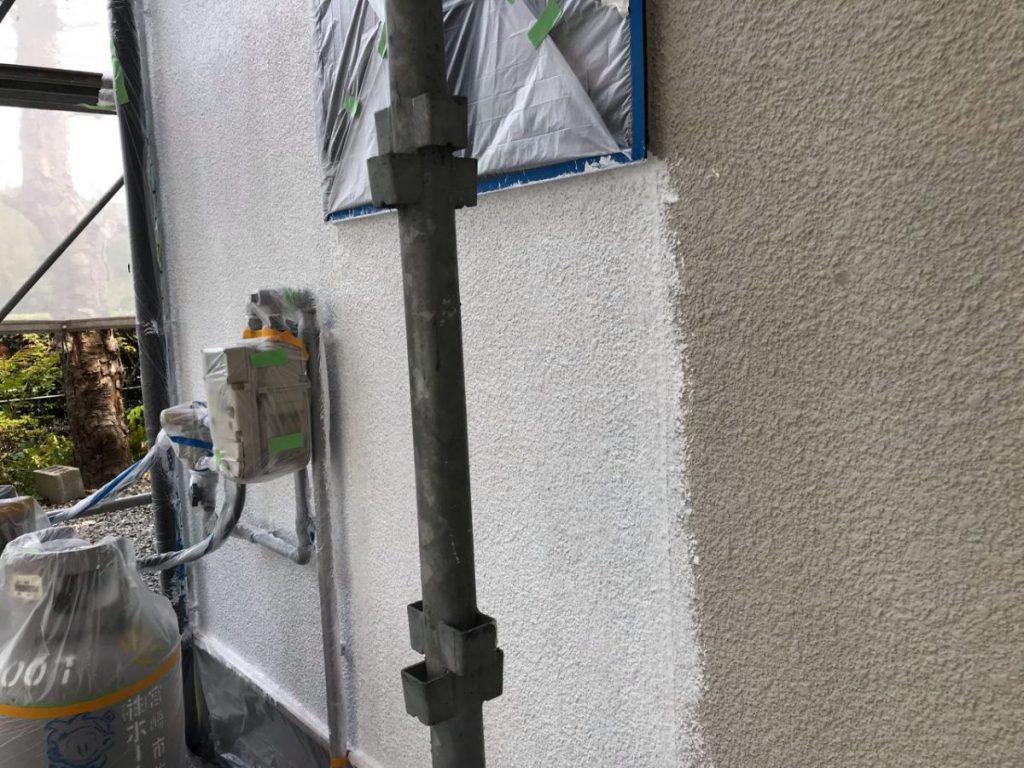 外壁下地の乾燥による剥離