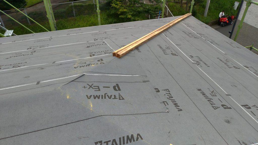 ガルバリウム鋼板 貫板補修