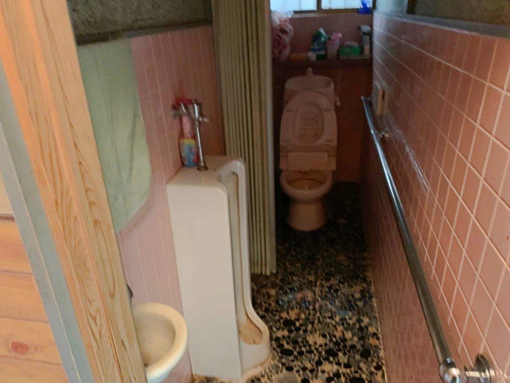 鹿児島リフォーム工事前のトイレの様子