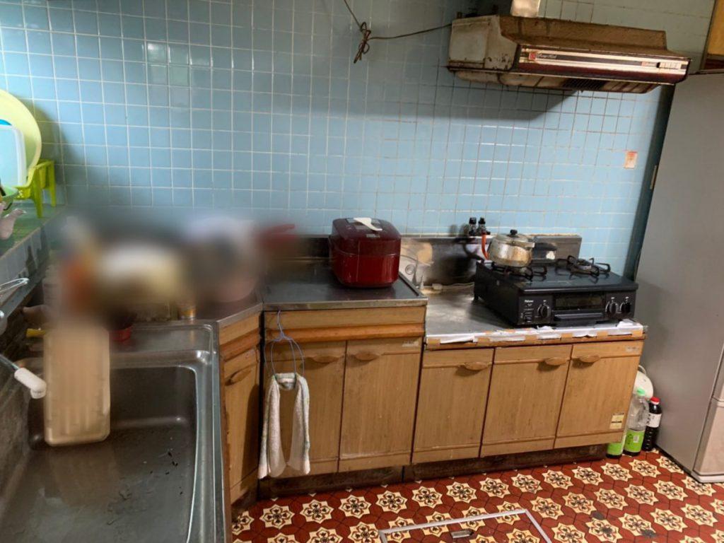 鹿児島でのリフォームキッチン既存情報