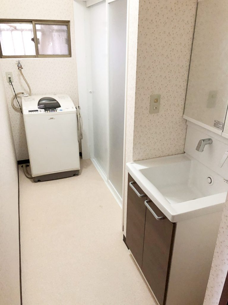鹿児島でのリフォーム洗面脱衣所