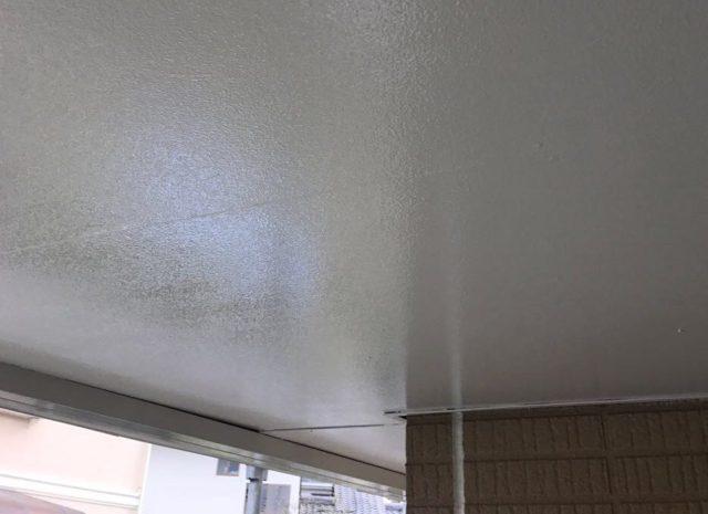 【宮崎県宮崎市】生目台にある45坪の住宅でサンドフレッシュSiで屋根塗装をした工事軒天