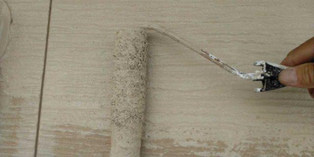 【宮崎県宮崎市】島之内にある万代ホームの築16年の住宅で外壁・防水塗装をした工事壁中