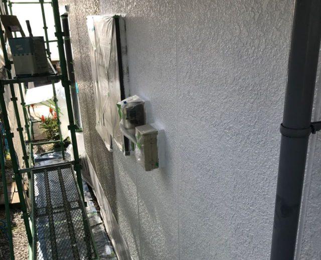 【宮崎県宮崎市】清武町にある住宅で瓦屋根とサイディング外壁を塗装した工事外下