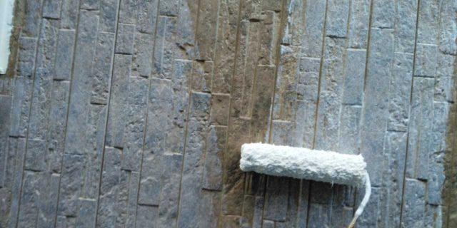 【宮崎県宮崎市】島之内にある万代ホームの築16年の住宅で外壁・防水塗装をした工事壁下