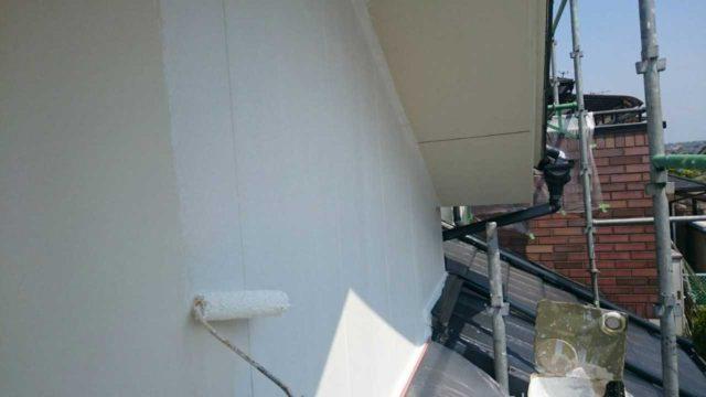【宮崎県宮崎市】月見ヶ丘にあるタイル&窯業サイデ ィング外壁の住宅で塗装をした工事壁下