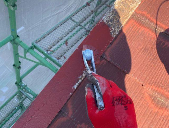 【宮崎県宮崎市】大橋にある住宅でモルタル外壁をセミフロンマイルドで塗装した工事屋根下
