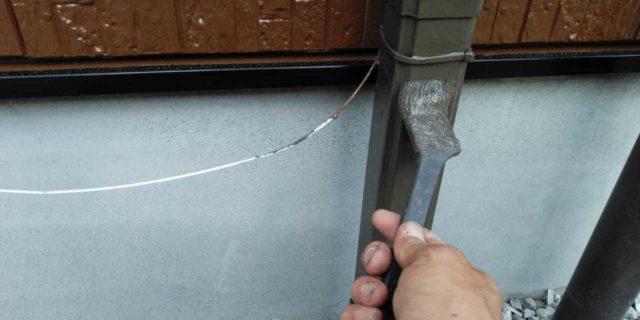 【宮崎県宮崎市】島之内にある万代ホームの築16年の住宅で外壁・防水塗装をした工事雨樋