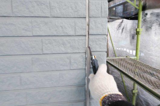 【宮崎・鹿児島地域】外壁や軒天、雨樋、玄関庇排水板金、雨水浸透ますなどを修繕・塗装した工事シーリング撤去