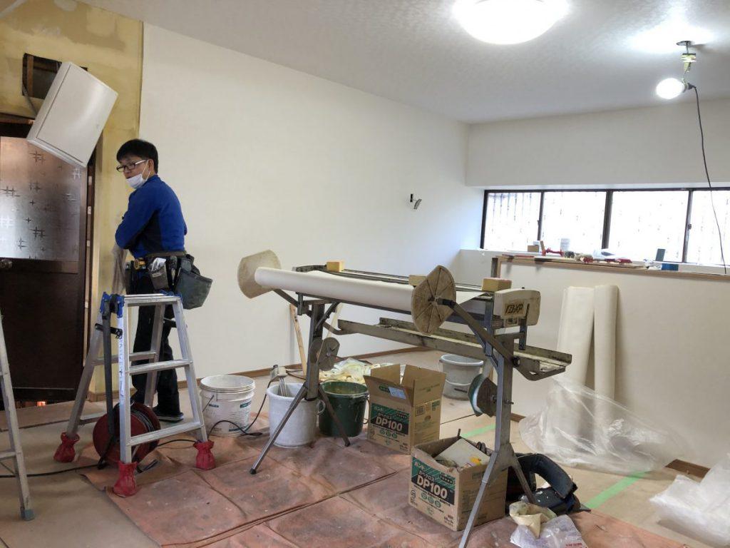 鹿児島 キッチンリフォーム 壁補修写真