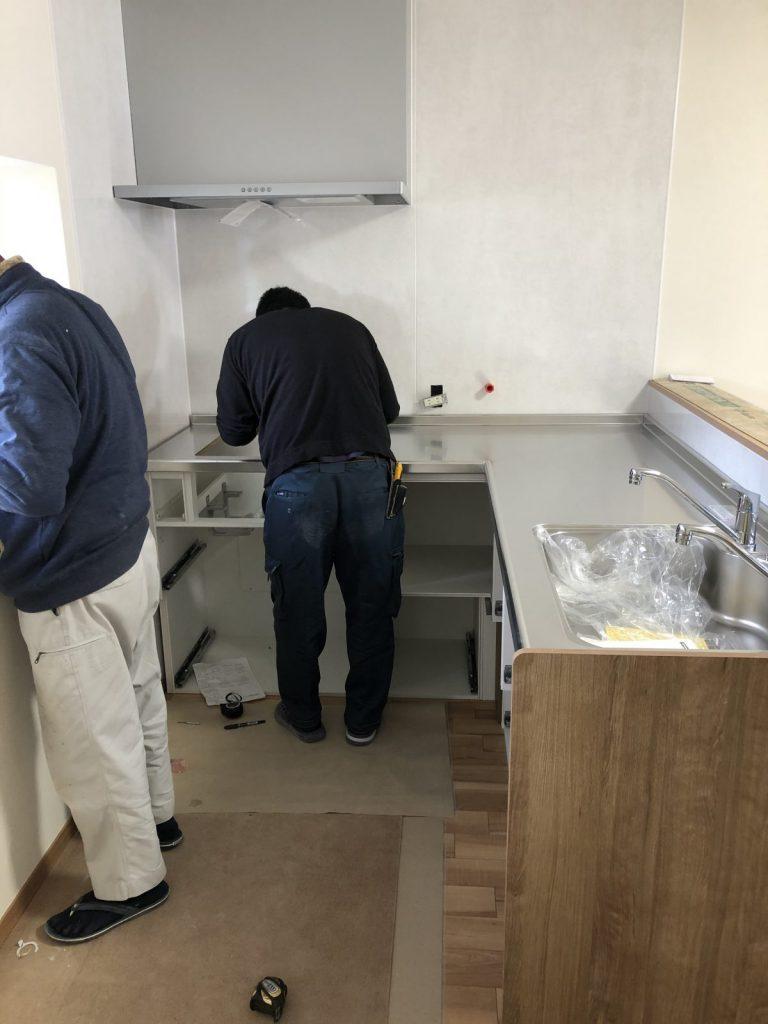 鹿児島で行ったキッチンリフォームの様子