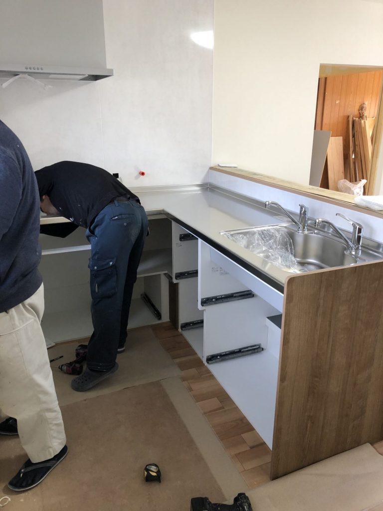 鹿児島市でのキッチンリフォーム工事