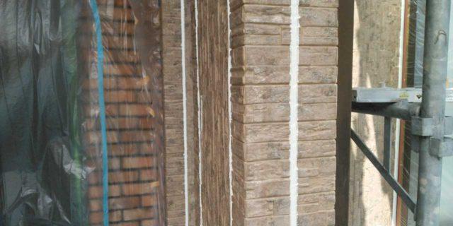 【宮崎県宮崎市】島之内にある万代ホームの築16年の住宅で外壁・防水塗装をした工事シーリング
