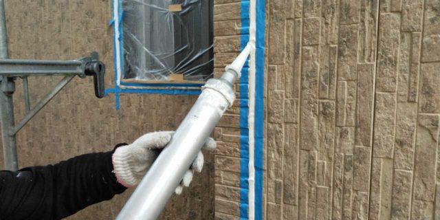【宮崎県宮崎市】島之内にある万代ホームの築16年の住宅で外壁・防水塗装をした工事シーリング充填