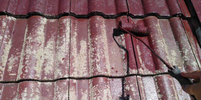 【鹿児島県霧島市】郡田にある住宅でモルタル外壁とセメント瓦屋根を塗装した工事屋根中