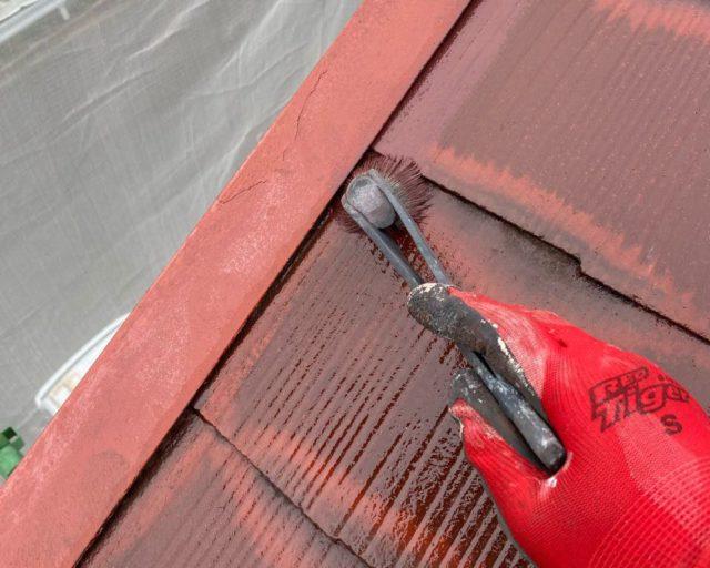 【宮崎県宮崎市】大橋にある住宅でモルタル外壁をセミフロンマイルドで塗装した工事屋根中