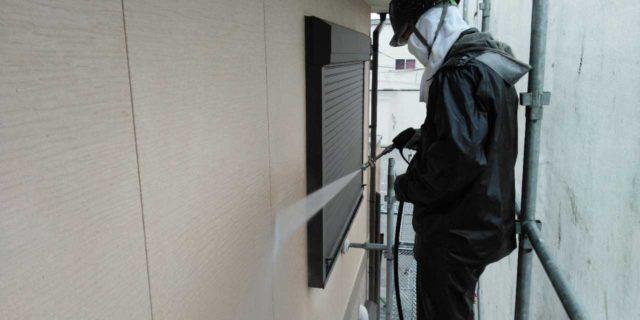 【宮崎県宮崎市】島之内にある万代ホームの築16年の住宅で外壁・防水塗装をした工事洗浄