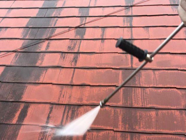 【宮崎県宮崎市】大橋にある住宅でモルタル外壁をセミフロンマイルドで塗装した工事洗浄