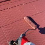 【宮崎県宮崎市】大橋にある住宅でモルタル外壁をセミフロンマイルドで塗装した工事屋根上