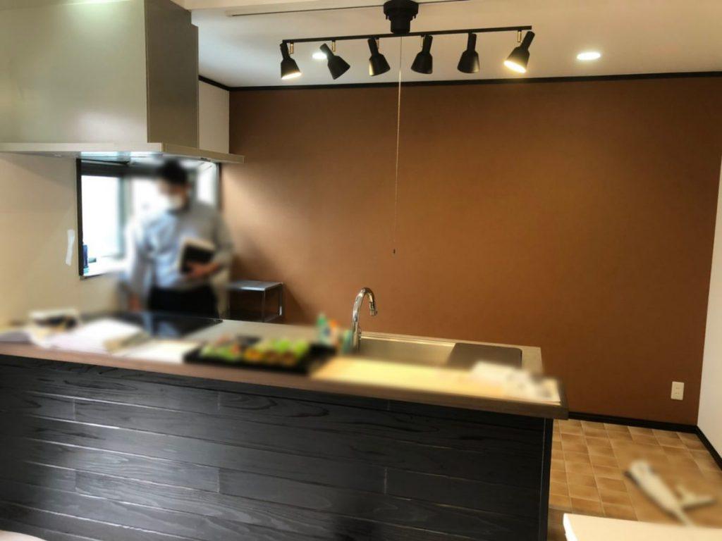 キッチンリフォーム 壁
