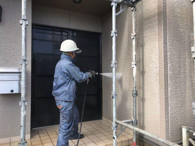 鹿児島市 外壁塗装工事完成の様子