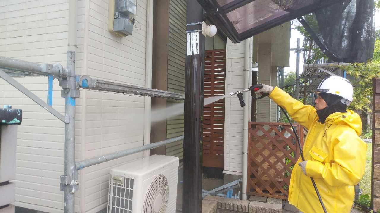 日置市伊集院町の外壁屋根塗装工事