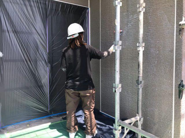 いちき串木野市 外壁塗装の様子