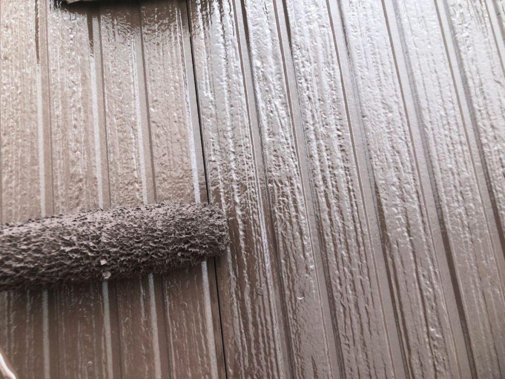 都城市外壁塗装工事の様子