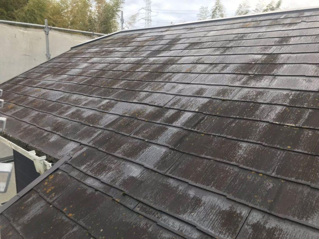 薩摩川内市屋根塗装工事の様子