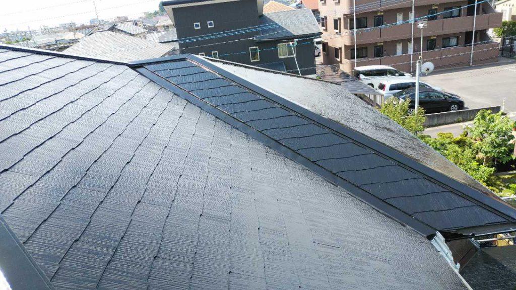 鹿児島市屋根塗装工事完成の様子