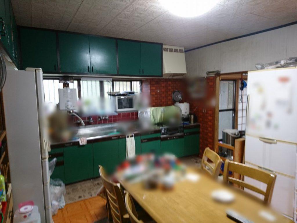 さつま町 キッチンリビングのリフォーム前の写真