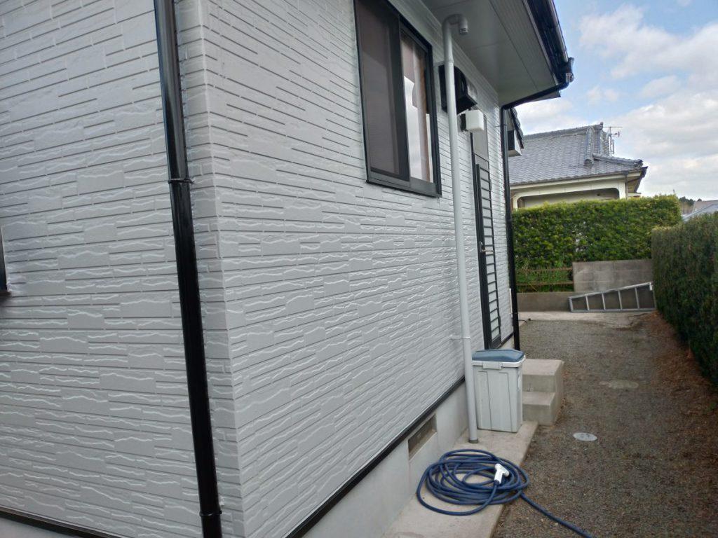 日置市外壁塗装グレー