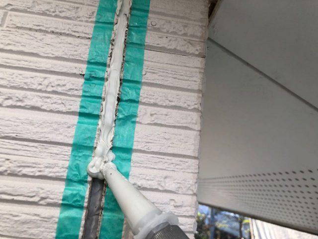都城市外壁コーキング補修