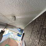 【宮崎県宮崎市】花山手にある41坪の住宅でスーパーセラタイトFを使った外壁塗装と、屋根の塗装工事軒天上塗り