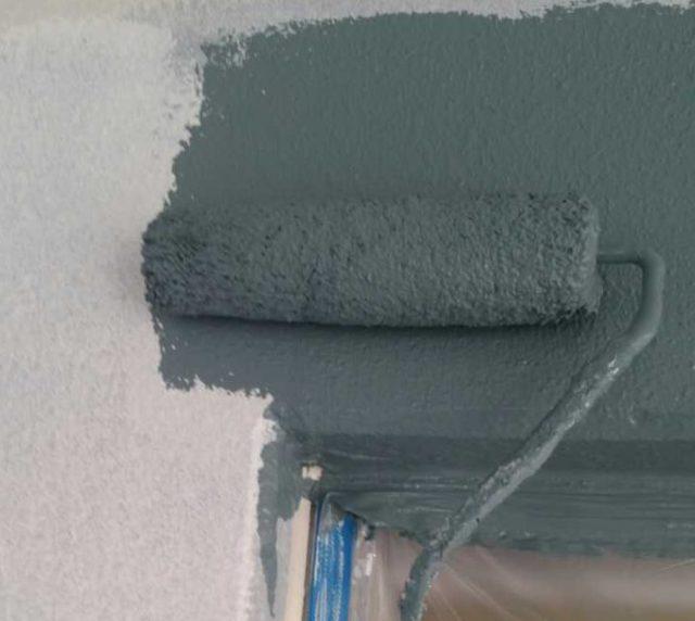 【宮崎県宮崎市】橘通にあるALC外壁の住宅外壁中塗り