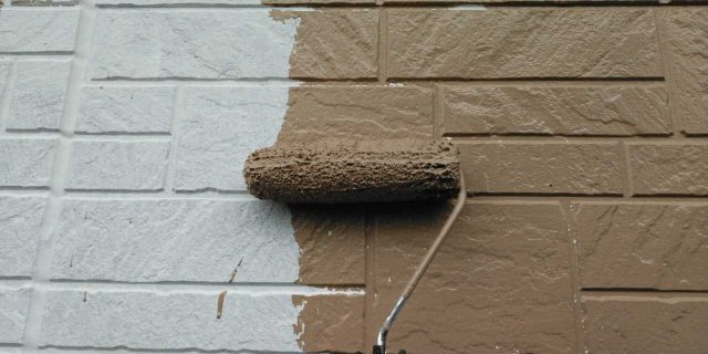 【鹿児島県鹿屋市】串良町の外壁中塗り