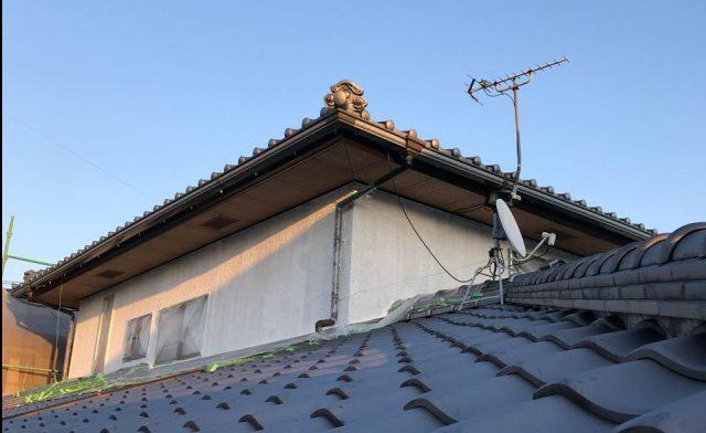 【宮崎県宮崎市】希望ヶ丘で111平方メートルの外壁と付帯部を塗装した工事養生