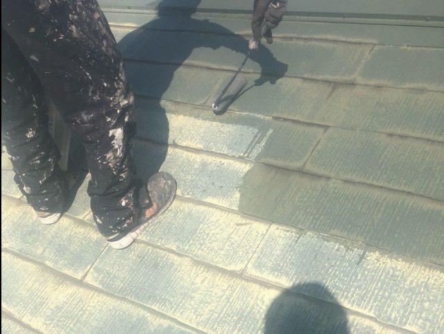 【鹿児島県霧島市】隼人町でアパート3棟工事屋根下塗り