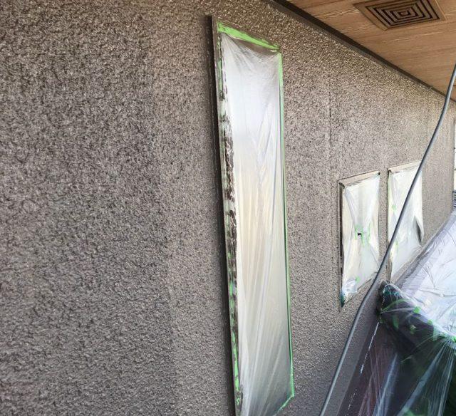 【宮崎県宮崎市】希望ヶ丘で111平方メートルの外壁と付帯部を塗装した工事外壁上塗り