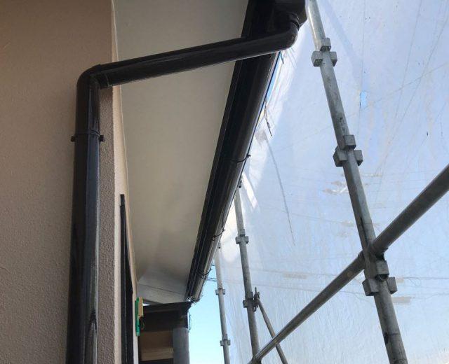 【宮崎県宮崎市】大字田吉でモルタル外壁とセメント瓦を塗装した工事足場