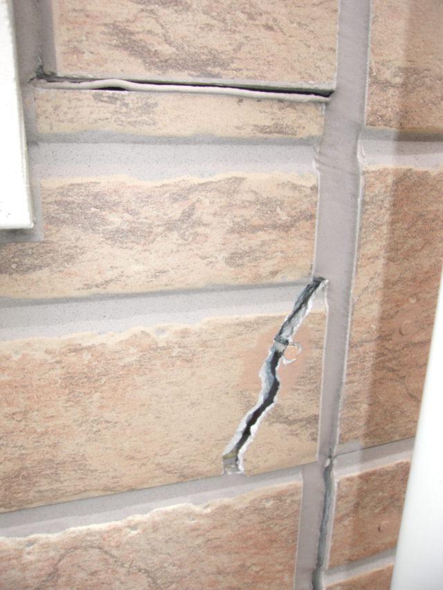 薩摩川内市の外壁の割れ