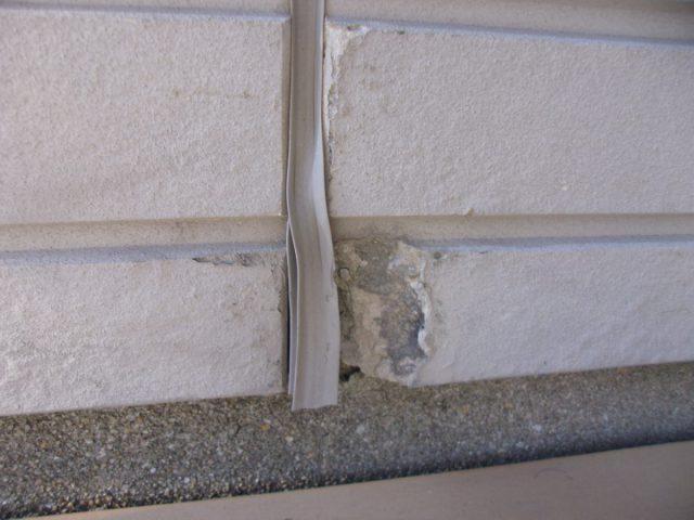 出水市外壁塗装前コーキングの傷み